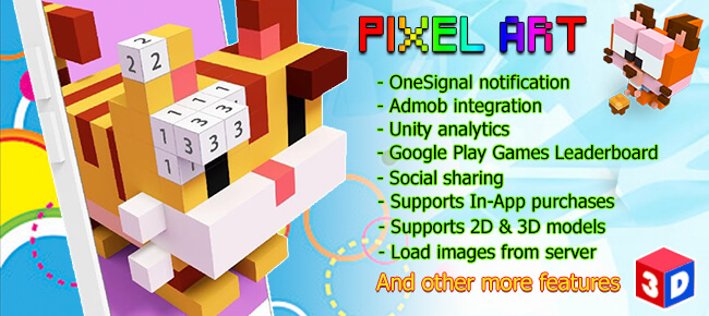 Color Pixel Art 3d Secret @KoolGadgetz.com